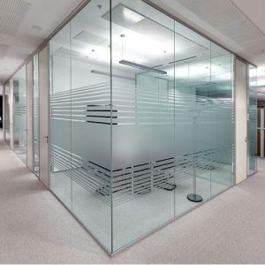 Clear Glass Partition